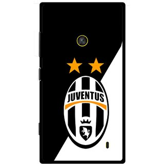Snooky Printed Football Club Mobile Back Cover For Nokia Lumia 520 - Black