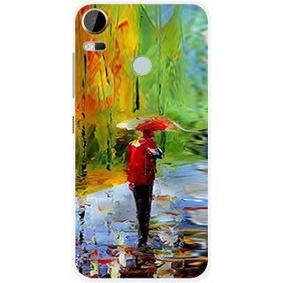 Snooky Printed Painting Mobile Back Cover For HTC Desire 10 Pro - Multi