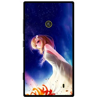 Snooky Printed Angel Girl Mobile Back Cover For Nokia Lumia 520 - Blue