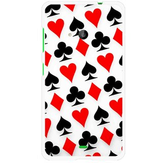 Snooky Printed Playing Cards Mobile Back Cover For Microsoft Lumia 535 - Multi