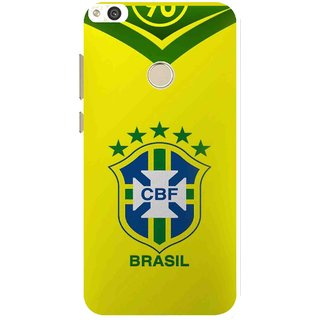 Snooky Printed Brasil Mobile Back Cover For Huawei Honor 8 Lite - Yellow