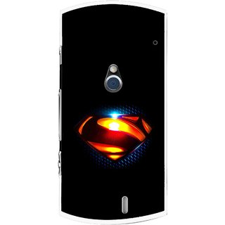 Snooky Printed Super Hero Mobile Back Cover For Sony Ericsson Xperia Neo V - Black