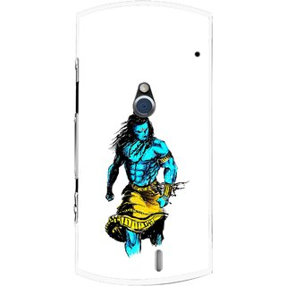 Snooky Printed Bhole Nath Mobile Back Cover For Sony Ericsson Xperia Neo V - White