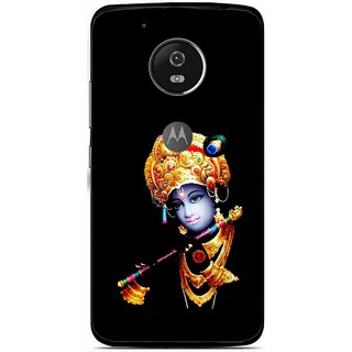 Snooky Printed God Krishna Mobile Back Cover For Moto G5 Plus - Black
