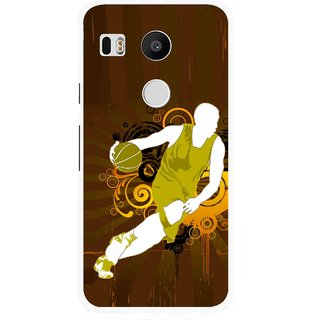 Snooky Printed Chamoins wins Mobile Back Cover For Lg Google Nexus 5X - Brown