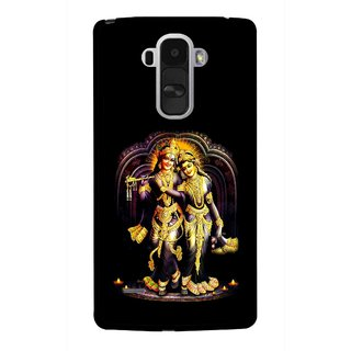 Snooky Printed Radha Krishan Mobile Back Cover For Lg G4 Stylus - Black