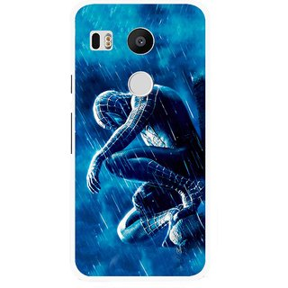 Snooky Printed Blue Hero Mobile Back Cover For Lg Google Nexus 5X - Blue