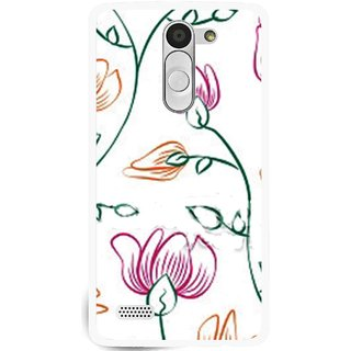 Snooky Printed Flower Sketch Mobile Back Cover For Lg L Bello - White