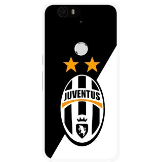 Snooky Printed Football Club Mobile Back Cover For Huawei Nexus 6P - Black