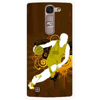 Snooky Printed Chamoins wins Mobile Back Cover For Lg Spirit - Brown