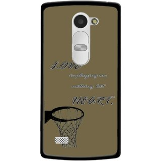Snooky Printed Heart Games Mobile Back Cover For Lg Leon - Brown