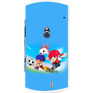 Snooky Printed Childhood Mobile Back Cover For Sony Ericsson Xperia Neo V - Blue