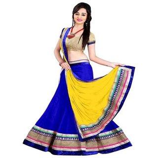 6b78eaac1f Payal Fashion Women's Semi-stitched Lehenga choli Material In Net Fabric
