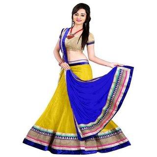 Payal Fashion Womens Semi-stitched Lehenga choli Material In Net Fabric