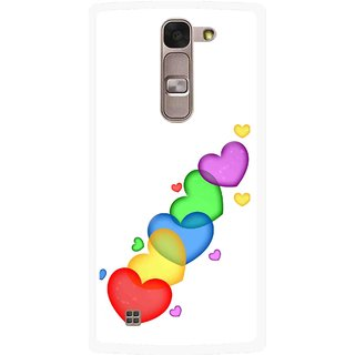 Snooky Printed Colorfull Hearts Mobile Back Cover For Lg Spirit - White