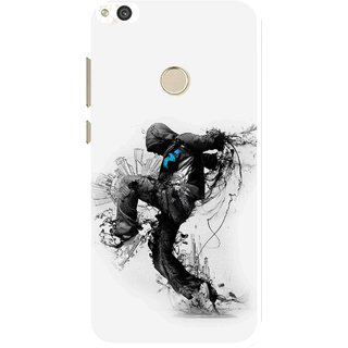 Snooky Printed Enjoying Life Mobile Back Cover For Huawei Honor 8 Lite - White