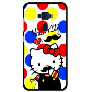 Snooky Printed moustache Kitty Mobile Back Cover For Asus Zenfone 3 ZE520KL - Multi