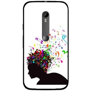 Snooky Printed Music Lover Mobile Back Cover For Moto G3 - White