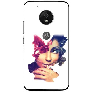 Snooky Printed Vintage Girl Mobile Back Cover For Moto G5 Plus - Multi