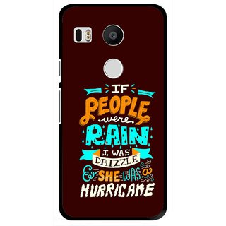 Snooky Printed Monsoon Mobile Back Cover For Lg Google Nexus 5X - Multi