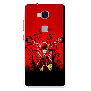 Snooky Printed Super Hero Mobile Back Cover For Huawei Honor 5X - Multi