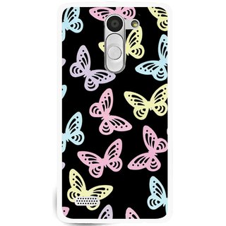 Snooky Printed Butterfly Mobile Back Cover For Lg L Bello - Multi