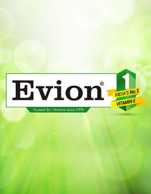 Evion Vitamin E (Pack Of 50 Capsules) 400mg Face Hair P
