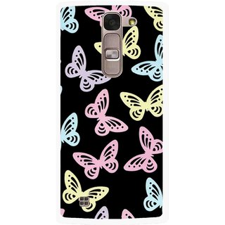 Snooky Printed Butterfly Mobile Back Cover For Lg Spirit - Multi