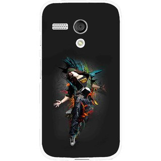 Snooky Printed Music Mania Mobile Back Cover For Moto G - Multi