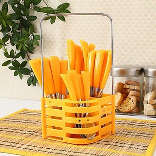 Rosa 24 Pcs Cutlery Set With Stand