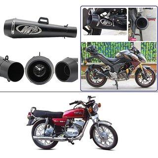 AutoStark 51mm Inlet Long Grenade Launcher Shape Exhaust Pipe Muffler  Silencer (Black) Yamaha RX 100