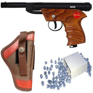 Dynamic mart  Bond Wooden Air Gun 100 Bullets With Cover (Pack of 1)  (Brown)