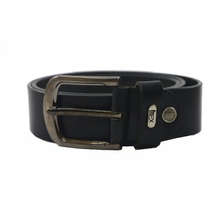 iMex Men's Stylish Black Genuine Leather Belts