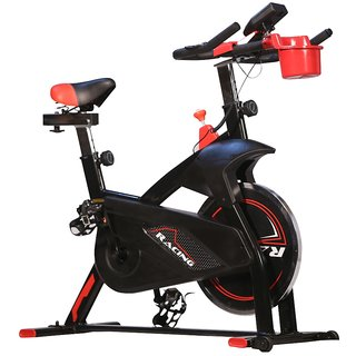 Spin Bike Platinum Red Home Excercise Workout Fitness Indoor Trainer Cycle Equipment