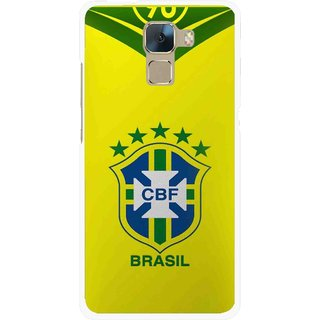 Snooky Printed Brasil Mobile Back Cover For Huawei Honor 7 - Multi