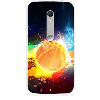 Snooky Printed Paint Globe Mobile Back Cover For Motorola Moto X Style - Multi