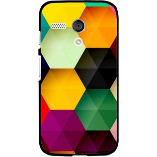 Snooky Printed Hexagon Mobile Back Cover For Moto G - Multi