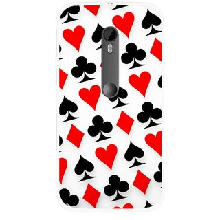 Snooky Printed Playing Cards Mobile Back Cover For Moto G3 - Multi