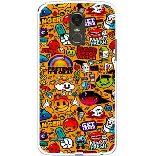 Snooky Printed Freaky Print Mobile Back Cover For Lg Stylus 3 - Multi