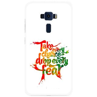 Snooky Printed Drop Fear Mobile Back Cover For Asus Zenfone 3 ZE520KL - Multi