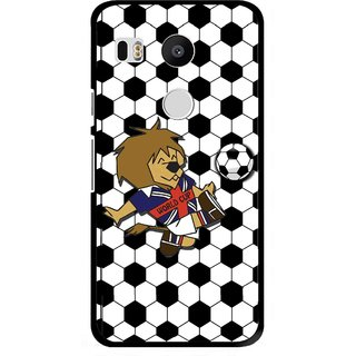 Snooky Printed Football Cup Mobile Back Cover For Lg Google Nexus 5X - Multi