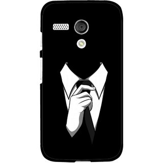 Snooky Printed White Collar Mobile Back Cover For Moto G - Multi