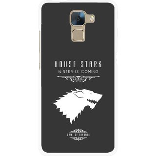 Snooky Printed House Stark Mobile Back Cover For Huawei Honor 7 - Multi
