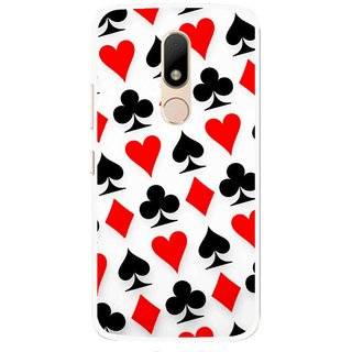 Snooky Printed Playing Cards Mobile Back Cover For Motorola Moto M - Multi