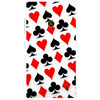 Snooky Printed Playing Cards Mobile Back Cover For Nokia Lumia 520 - Multi
