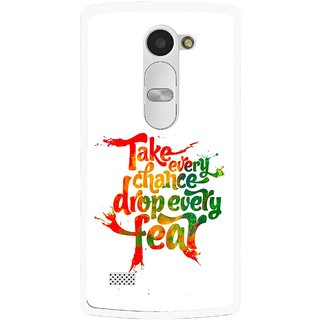 Snooky Printed Drop Fear Mobile Back Cover For Lg Leon - Multi