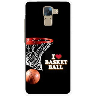 Snooky Printed Love Basket Ball Mobile Back Cover For Huawei Honor 7 - Multi
