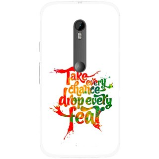 Snooky Printed Drop Fear Mobile Back Cover For Moto G3 - Multi