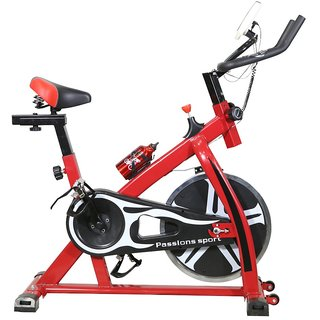 Spin Bike Red Home Excercise Workout Fitness Indoor Trainer Cycle Equipment
