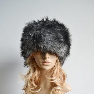Modo Vivendi Women Faux Rabbit Fur Knitted Cap Women Winter Warm Beanie Hat Ladies Headgear Grey Style 2